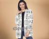 Southwest Design Cardigan -Soft Knitted Fabric