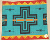 View of Cochiti Turquoise Sham without Pillow