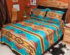 Southwestern Chevron Bedspread Turquoise  -Accent Shams Sold Separately