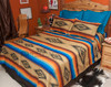 Southwestern Bedspread Saltillo Tan Accent Shams -Sold Separately