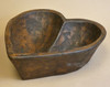 Rustic Heart Shaped Wooden Bowl