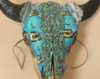 Painted Buffalo Skull - Front View