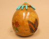 Creek Indian Etched Gourd Rattle