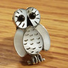 Native American Sterling Silver Lapel Pin -Owl
