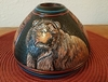 Native American Etched Clay Pottery -Bear