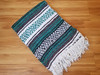 Woven recycled fiber Mexican blanket