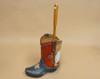 Western Texas Flag Boot Toilet Brush Holder