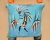 """Tarahumara Painted Hide Kiva Ladder 72"""" -Kokopelli (87bc23)"""