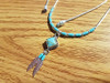 Southwestern Silver Necklace -Feathers