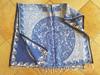 Mexican Blanket Poncho -Blue Mayan Calendar