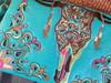 Longhorn Wallet Handbag -Turquoise