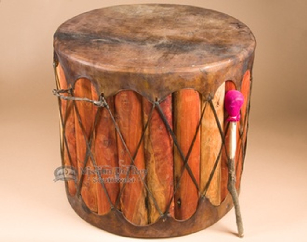 Ideas for Using Native American Drums as Rustic Furnishings