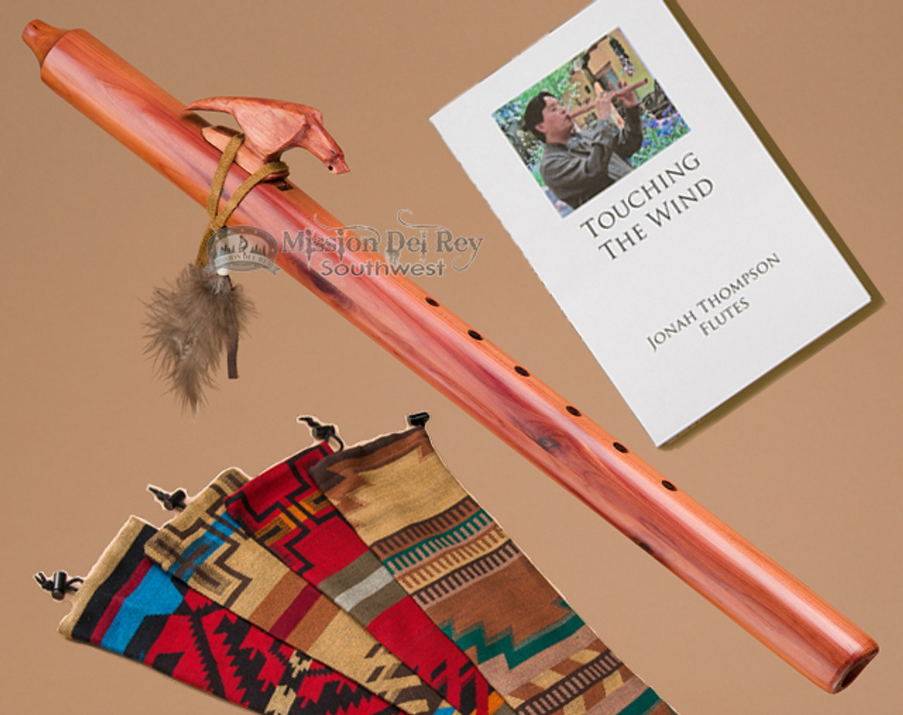 Authentic Native American EAGLE Flute handmade by Jonah Thompson in key of A