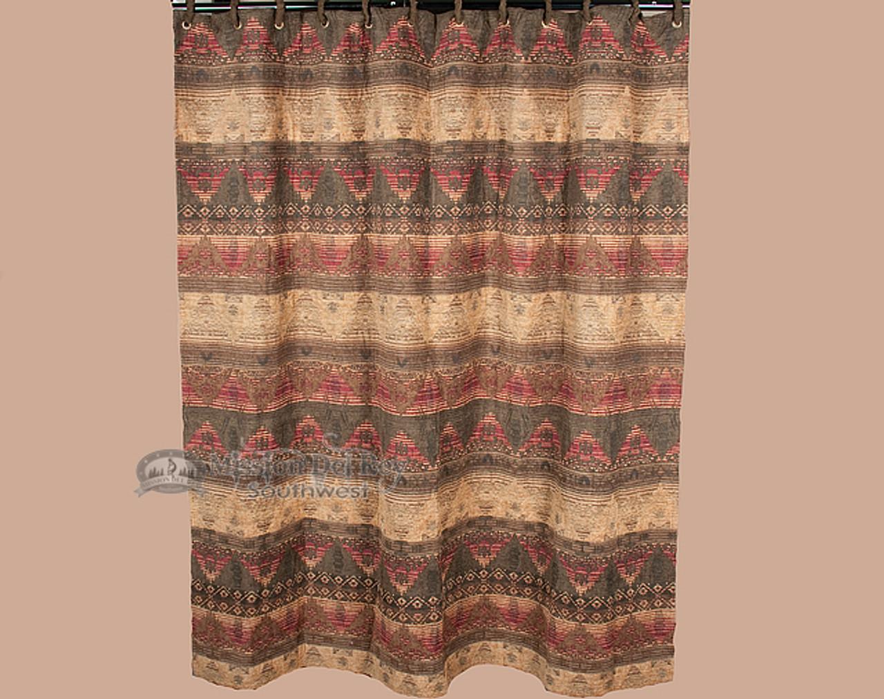 Plush Luxury Southwestern Shower Curtain Del Sierra Sc4