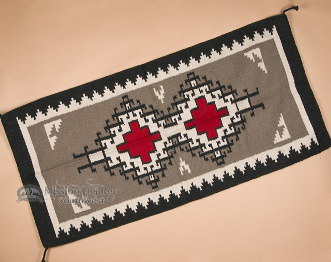 Picture of: Southwest Navajo Style Two Grey Hills Pattern Rug 32 X64 64325 Mission Del Rey Southwest