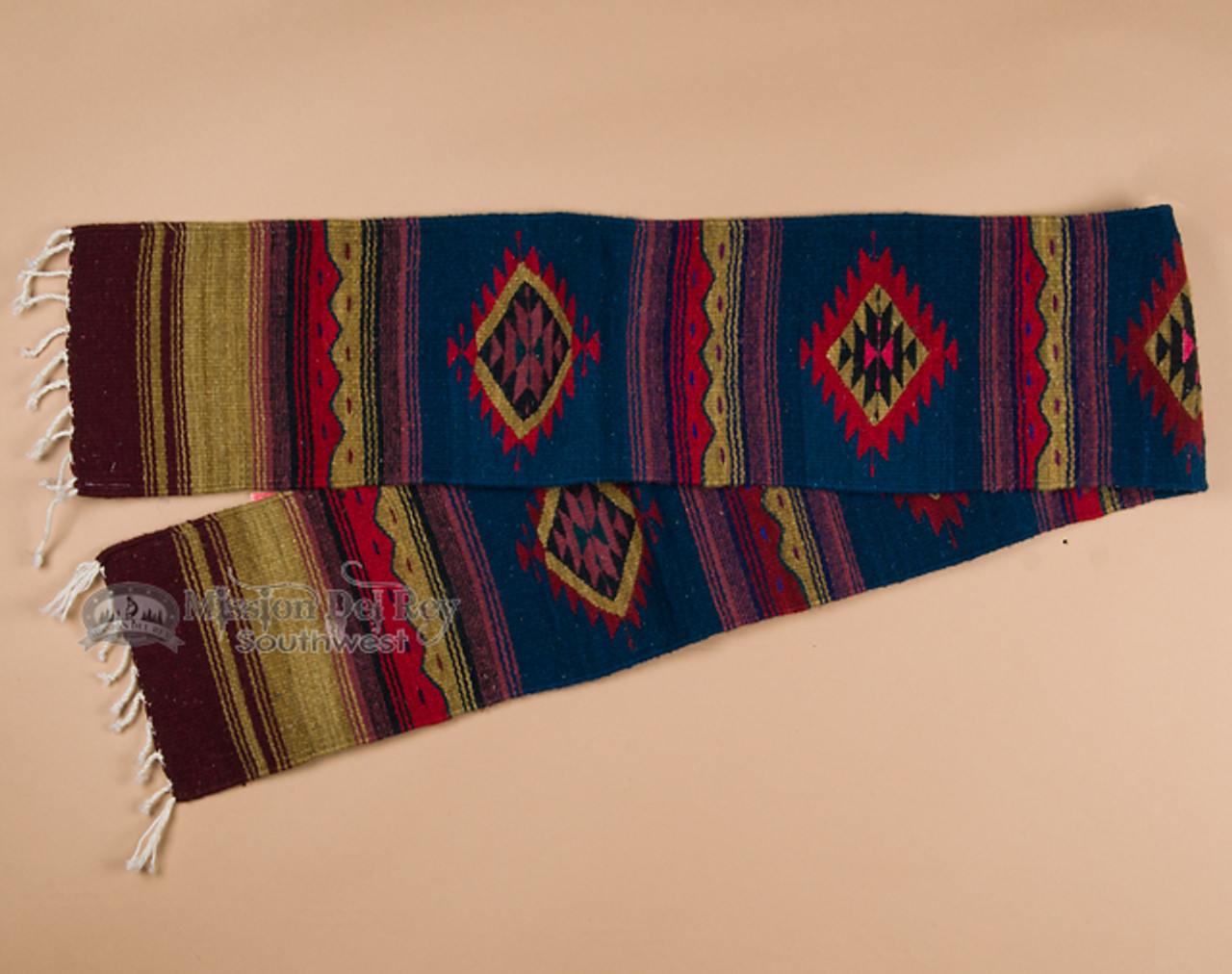 Zapotec Indian Southwest Table Runner 10 X80 A15