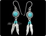 Silver & Beaded Earrings