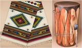 Southwestern rugs, Native American drums