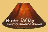 Rawhide Southwestern Lamp Shades Create That Special Look