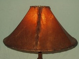 Use Rawhide Lamp Shades for A Western Touch