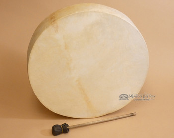 "16"" one sided Tarahumara rawhide drum."