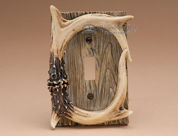 Faux antler single switch cover.