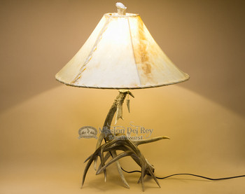 One of a kind deer antler lamp. 25""
