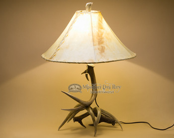 Genuine white tail deer antler lamp. 25""
