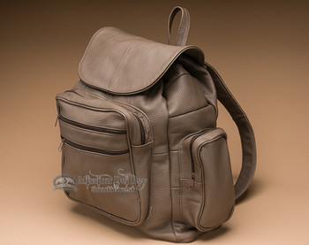 Rustic Distressed Leather Back Pack - Brown (bp6)