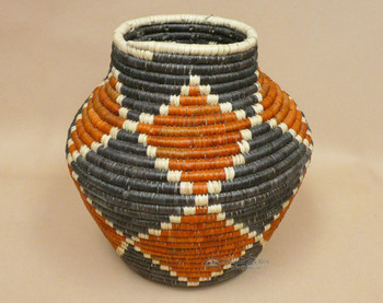 """Hand Coiled Olla Basket 12"""""""