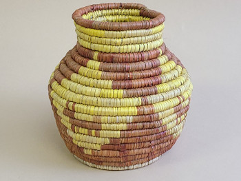 Pueblo Style Handwoven Olla Basket
