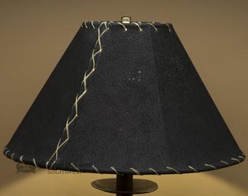 "Western Leather Lamp Shade - 14"" Black Pig Skin"