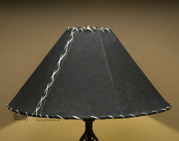 "Western Leather Lampshade - 20"" Black Pig Skin"