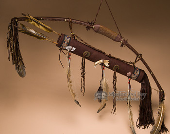 Native American Bow with Antler Handle - Navajo