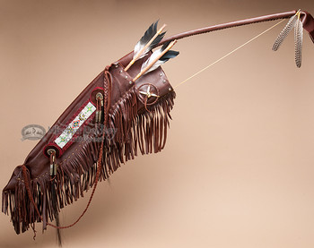 "Native American Indian Bow, Case & Quiver 48"" -Tigua (B40)"