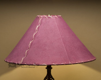 "Western Leather Lamp Shade - 20"" Burgundy Pig Skin"