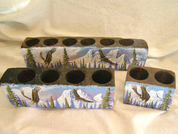 Hand Painted Sugar Mold Candle Set - Flying Eagle