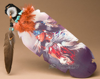 Native Crafted Cedar Feather - Spirit Brothers