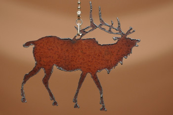 Rustic Metal Chain Pull - Elk