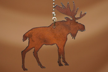 Lodge Style Metal Chainpull - Moose