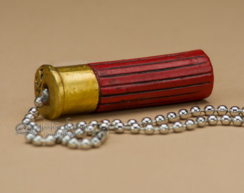 Resin Painted Pull Chain - Shotgun Shell