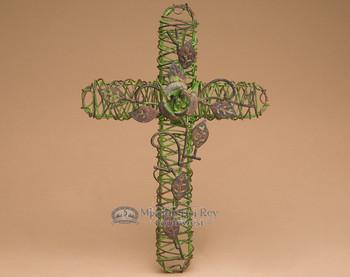 """Southwestern Wire Garden Cross 12.5"""" (c46)"""