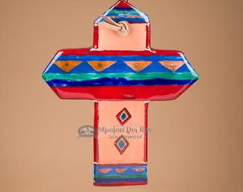 Southwestern Handcrafted Saltillo Tile Cross (62)