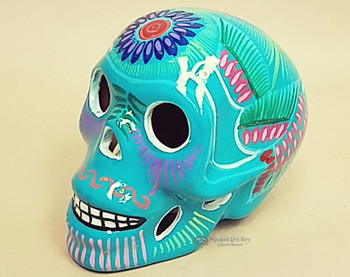 Day of The Dead Skull - Turquoise