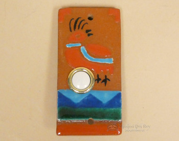 Saltillo Painted Door Bell - Quail