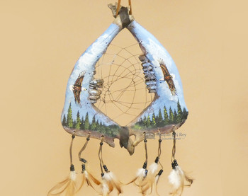 Tarahumara Jaw Bone Dreamcatcher -Eagles