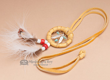 "Native American Dream Catcher Necklace 1.5"" -Gold"