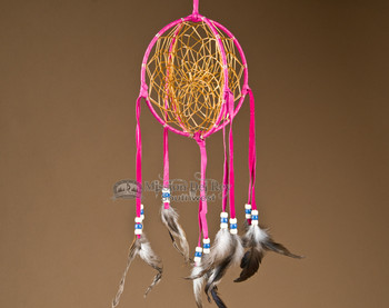 3D Native American Dreamcatcher - Pink