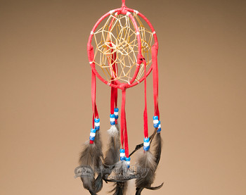 3D Native American Dreamcatcher - Red