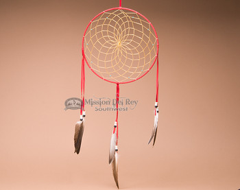 "10"" Handwoven Dreamcatcher - Red"